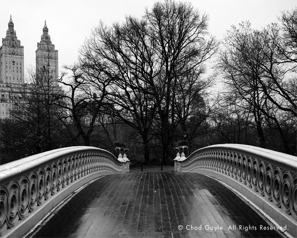 Bow Bridge after rain (Central Park)