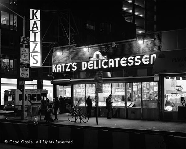 Katz's Delicatessen at night