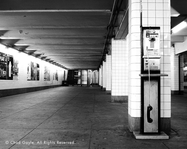 Off the Hook: Analog Phone in a Subway Station (Brooklyn)