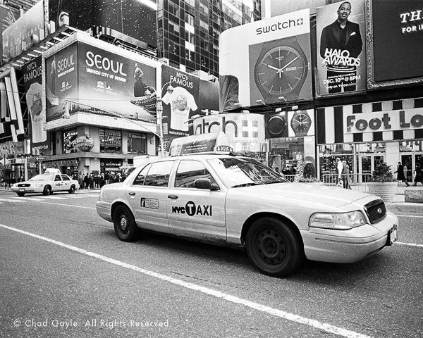 Taxi Cabs in Times Square, New York