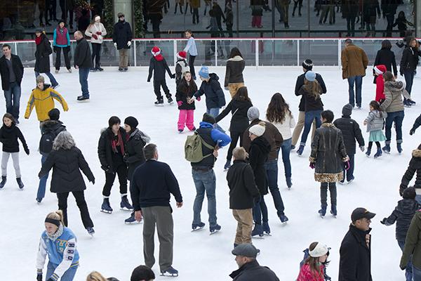 Rockefeller Ice Rink Skaters