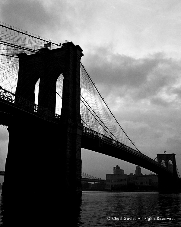 The Brooklyn Bridge at dawn