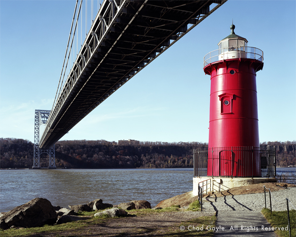 Little Red Lighthouse under the Great Gray Bridge