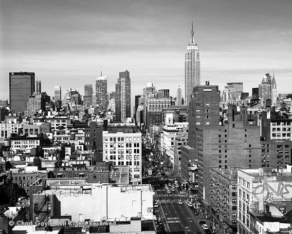 Manhattan skyline from 6th Avenue (daytime)