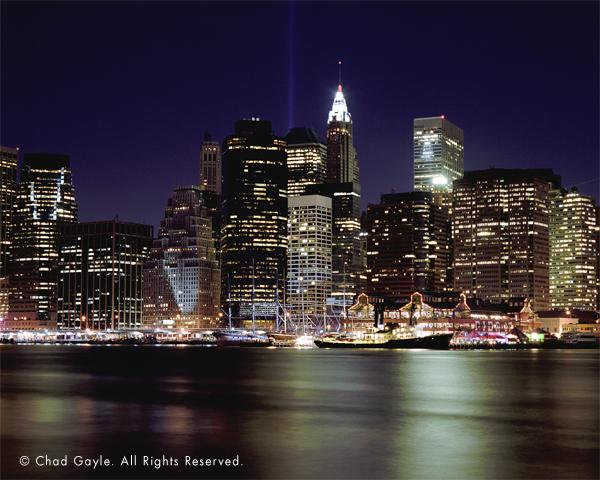 South Street Seaport at night (Manhattan skyline)