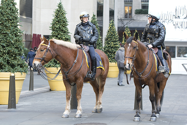 Mounted NYPD Police Officers at Rockefeller Center
